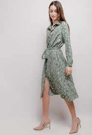SOVOGUE patterned shirt dress