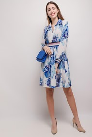 SOVOGUE floral shirt dress