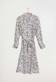 SOVOGUE printed shirt dress