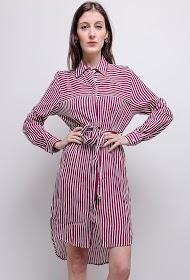 SOVOGUE striped shirt dress
