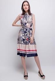 SOVOGUE printed dress