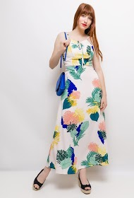 SOVOGUE tropical long dress