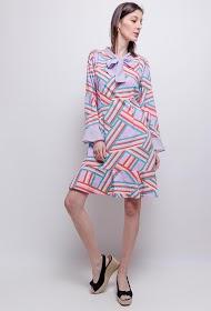 SOVOGUE striped dress