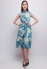 SOVOGUE vestido tropical