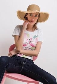 SOVOGUE t-shirt with flamingo print