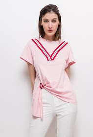 SOVOGUE asymmetrisches t-shirt