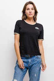 SOVOGUE t-shirt with eye patch