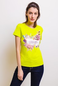 SOVOGUE t-shirt with printed flowers