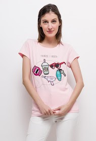 SOVOGUE t-shirt mit patches
