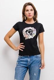 SOVOGUE t-shirt fleuri nur sie