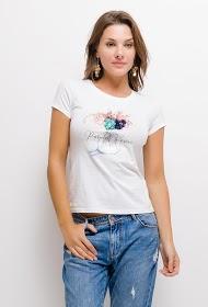 SOVOGUE blumen-t-shirt