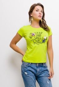SOVOGUE t-shirt stop and smell the roses