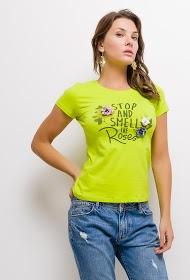SOVOGUE t shirt stoppen sie und riechen sie die rosen