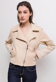 SOVOGUE suede effect jacket