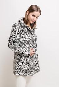SPATIAL leopard regenjacke