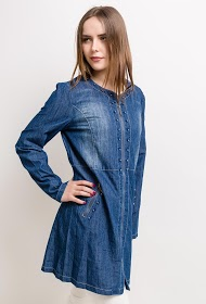 SPATIAL lightweight denim jacket with pearls