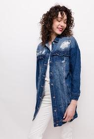 STARBEST veste déchirée en jean