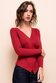 SWEEWË wrap sweater