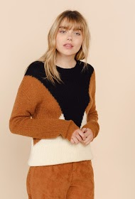 SWEEWË pull col rond color block