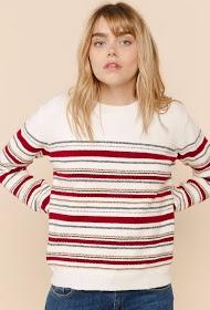 SWEEWË striped round neck sweater