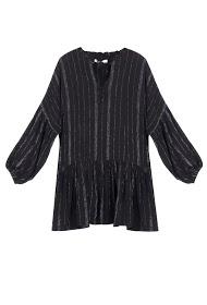 SWEEWë striped lurex dress