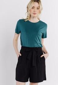 SWEEWË einfache shorts mit hoher taille