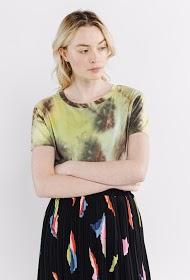 SWEEWË camiseta con efecto tie dye