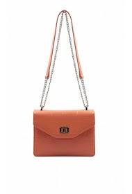 TOM & EVA mini monogram handbag with decorative flap belt -19g-2767
