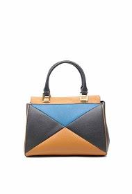 TOM & EVA leather effect handbag with shoulder strap