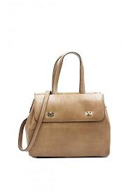 TOM & EVA ostrich handbag with biface varnish effect-6726