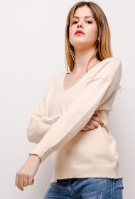UNIKA sweater with golden buttons