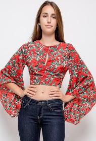 VAN DER ROCK short floral blouse