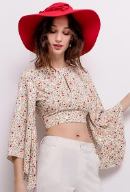 VAN DER ROCK blouse courte imprimée