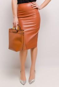 VAN DER ROCK faux leather skirt