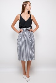 VAN DER ROCK striped skirt