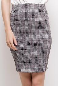 VAN DER ROCK checked tube skirt