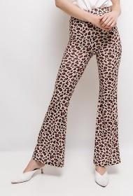 VAN DER ROCK leopard flared trousers