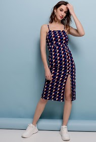 VAN DER ROCK geometric patterned dress