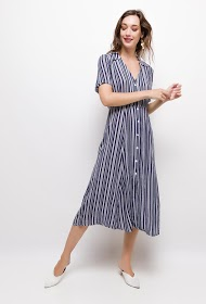 VAN DER ROCK striped dress