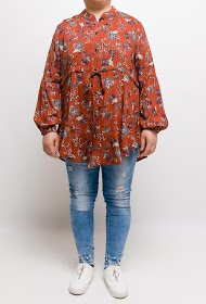 VETI STYLE printed tunic with lurex