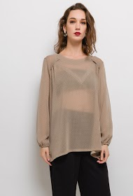 VETI STYLE polka dot blouse