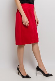 VETI STYLE suede effect skirt