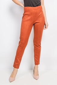 VETI STYLE suede effect trousers