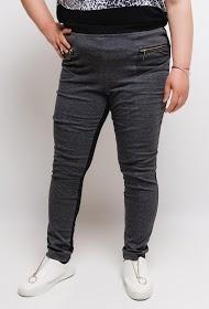 VETI STYLE elastic leggings with golden zips