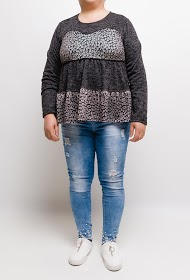 VETI STYLE printed knit blouse