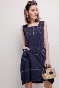 VETI STYLE stretch dress with pockets