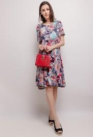 VETI STYLE printed stretch dress