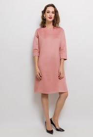 VETI STYLE suede effect dress