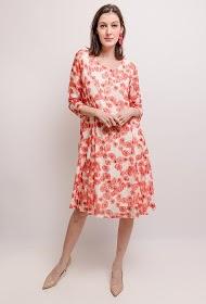 VETI STYLE floral print lace dress