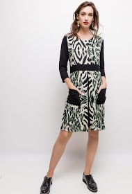 VETI STYLE leopard dress
